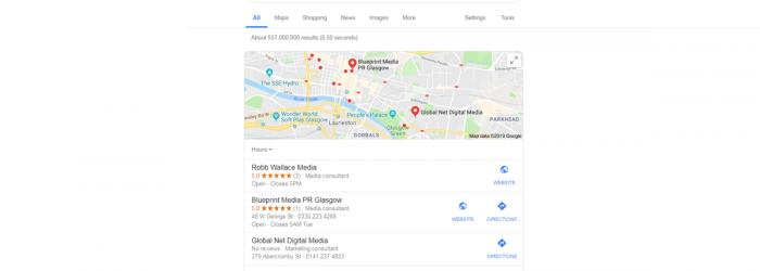Google My Business Rank 2019